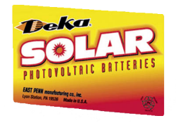 Deka Solar Batteries from MK