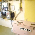 flooded battery bank with battery box and ventilation