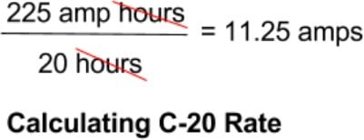 Calculating C-20 Rate - Battery Charge Rate