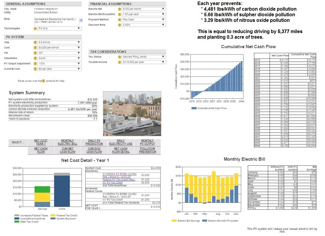New York Clean Power Estimator