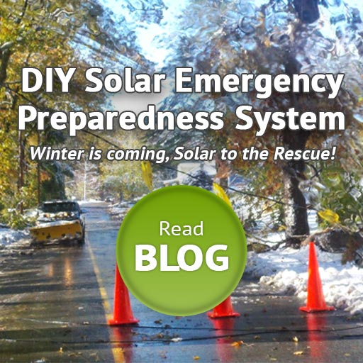 DIY emergency preparedness solar power system