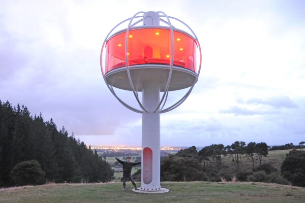 Cool solar powered man cave, the SkySphere, designed by Jono Williams.