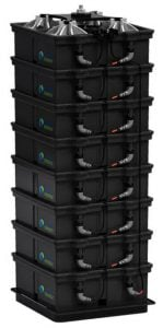 Aquion Energy salt water battery stack