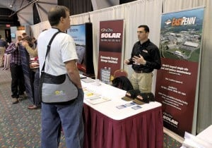 Chris from Deka Battery talking with an installer.