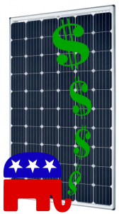 Fiscal conservative republican chooses solar for his home.