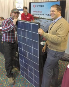 Kyocera Solar's Dawson and Brian with an installer.
