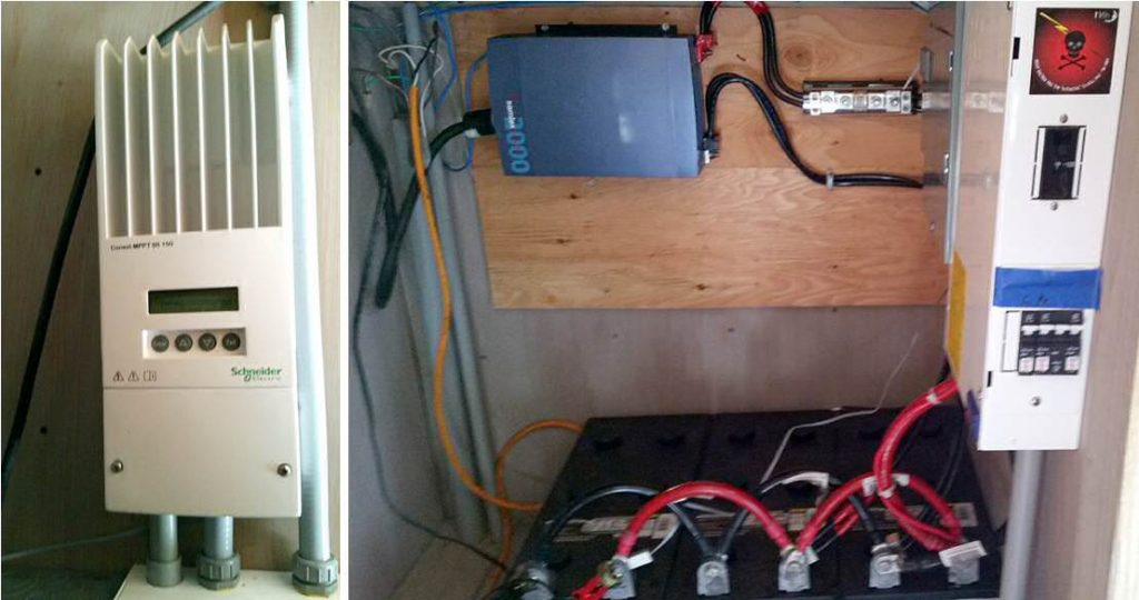 solar treehouse solar charge controller inverter batteries