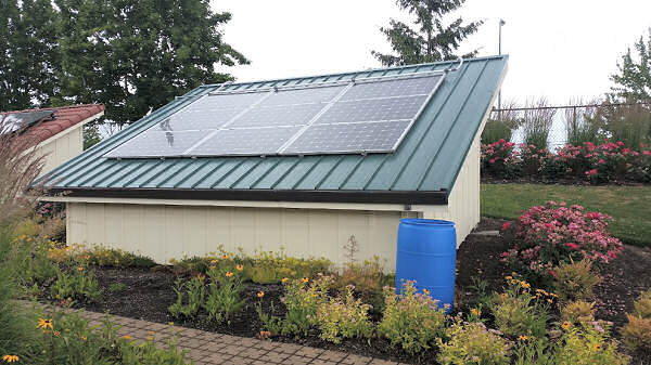 SolarWorld solar panels with various roof mount options.
