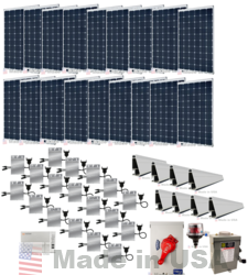 example of the cost of solar power system with microinverters