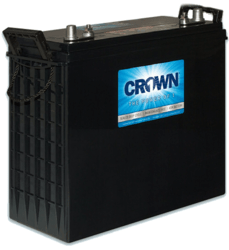 These Crown solar power batteries are now available in Puerto Rico.
