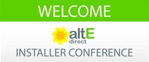 Banner for the first altE Solar Conference in 2012