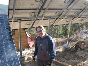 Ben at an 8.8KW PV install in 2009