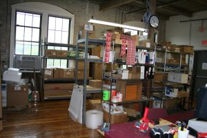 Interior shot of the altE warehouse in Hudson, Mass.