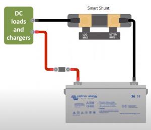 Victron SmartShunt system diagram
