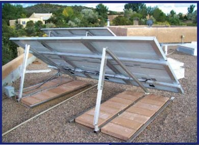 ballast mount roof solar panel panels blocks ballasted mounts concrete dpw mods included note
