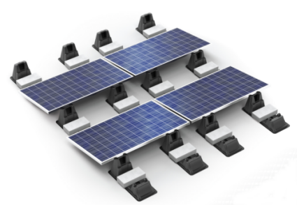 solar ballasted ecolibrium roof ballast system panel base panels mounts kit inc mount altestore