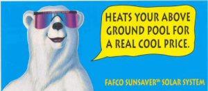 Fafco Sunsaver Bear Above Ground Pool Heater
