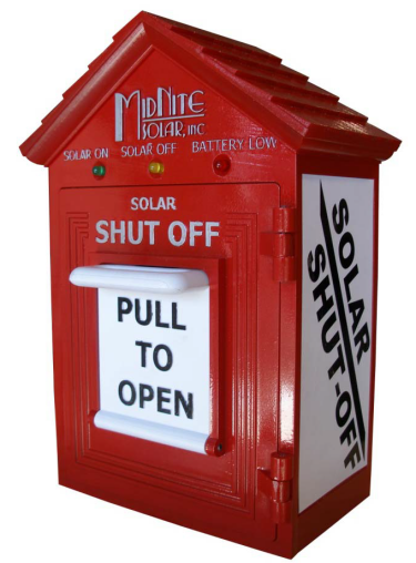 Midnite Solar Birdhouse Emergency Disconnect Switch Red