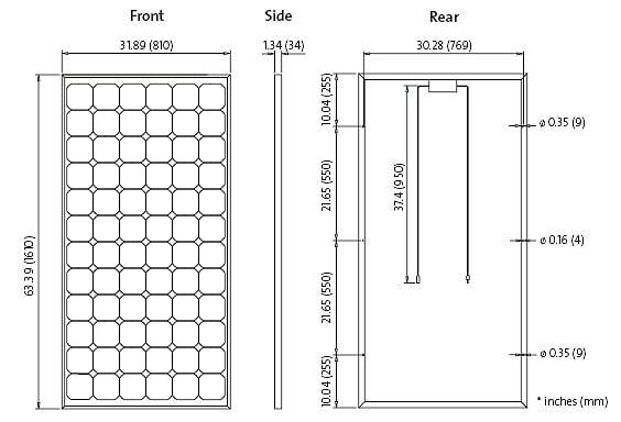 Solarworld Sw165 165w 24v Solar Panel