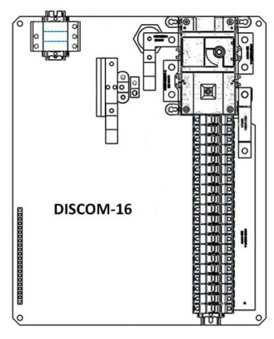 Solectria DISCOM16X Disconnecting String Combiner  NEMA 4  Powder Coated Steel