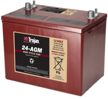 Trojan 24 Agm 12v 76ah 20hr Agm Sealed Battery
