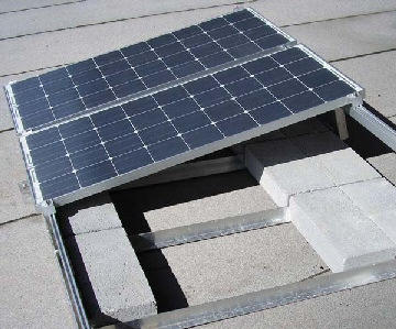 ballast unirac solar frame ballasted system pv panels panel roof mount mounts posts balast mounting solarmount attachment
