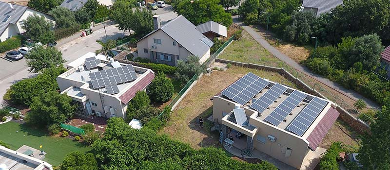 Solar panels on a 2000 square foot home