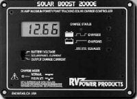 closeup view of the SolarBoost 2000e MPPT charge controller