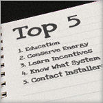 Top 5 things to consider when preparing for a renewable energy system