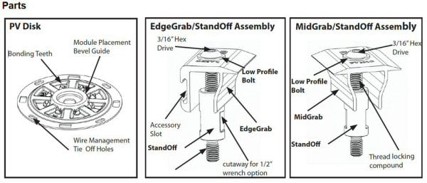 S-5! PV Kit 2.0 Parts Diagram