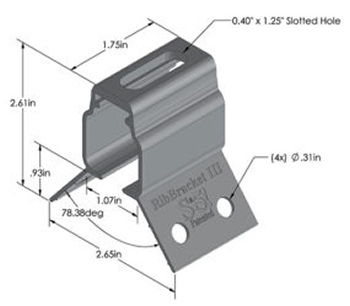 S 5 Ribbracket Iii For Metal Roofing Applications Alte