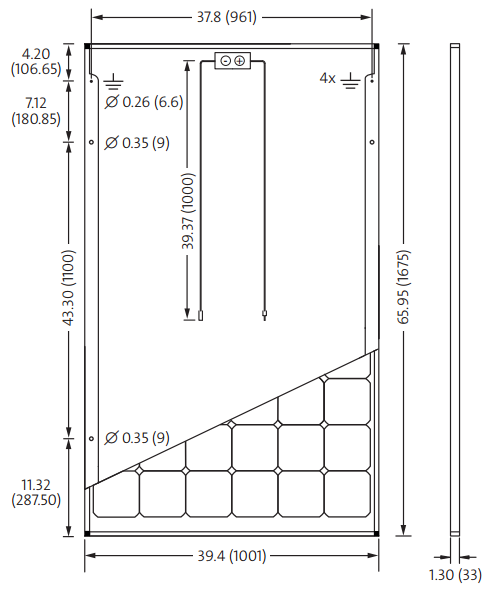 SolarWorld 60 Cell Dimensions