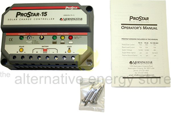 Morningstar Prostar Ps 15 15a Charge Controller Without