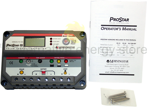 Morningstar Prostar Ps 15m 15a Charge Controller With