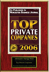 Top Private Companies 2006 Award