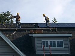Residential PV Installation in Progress
