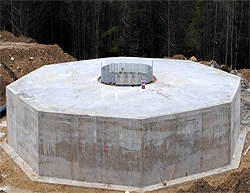Foundation for 2.5 MW Wind Turbine