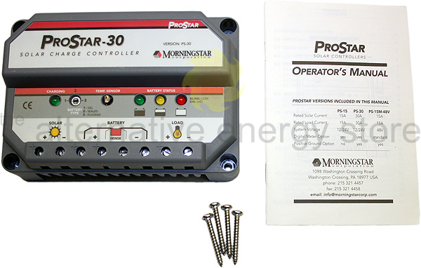 Morningstar Prostar Ps 30 30a Charge Controller Without