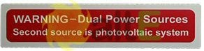 Dual Power Sources label