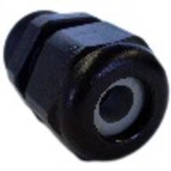 1/2 Inch Single Hole Strain Relief with Lock Nut