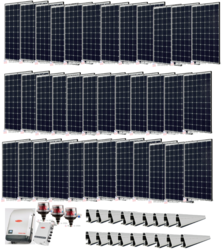 Grid-Tie 10.8kW Solar Power System with Fronius Inverter