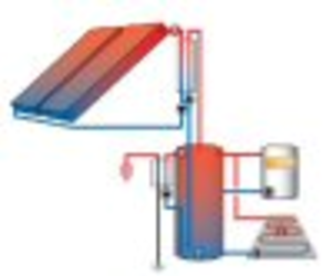 Heliodyne Solar Hot Water & Space Heat 1000 sq.ft.