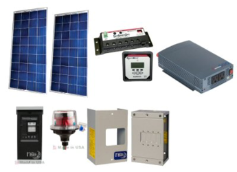 Off-Grid 300W Cabin Solar Power System - Base Kit