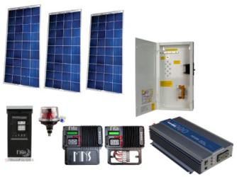 Off Grid 450W Cabin Solar Power System   Base Kit