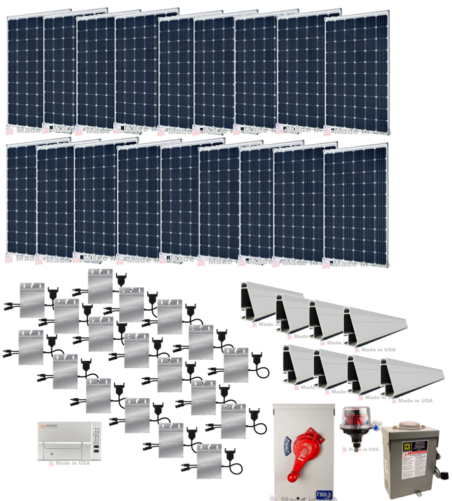 54kw Grid Tie Solar Power System With Microinverters Alte Wiring Panels To Inverter