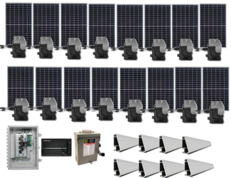 Grid-Tie 4.9kW Solar Power System with Enphase