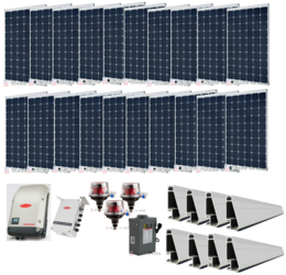 Grid-Tie 6.1kW Solar Power System with Fronius Inverter