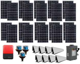 Grid-Tie 6.1kW Solar Power System with SMA Inverter