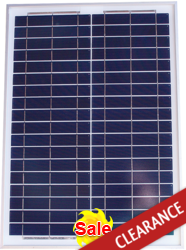 altE Poly 20 Watt 12V Solar Panel