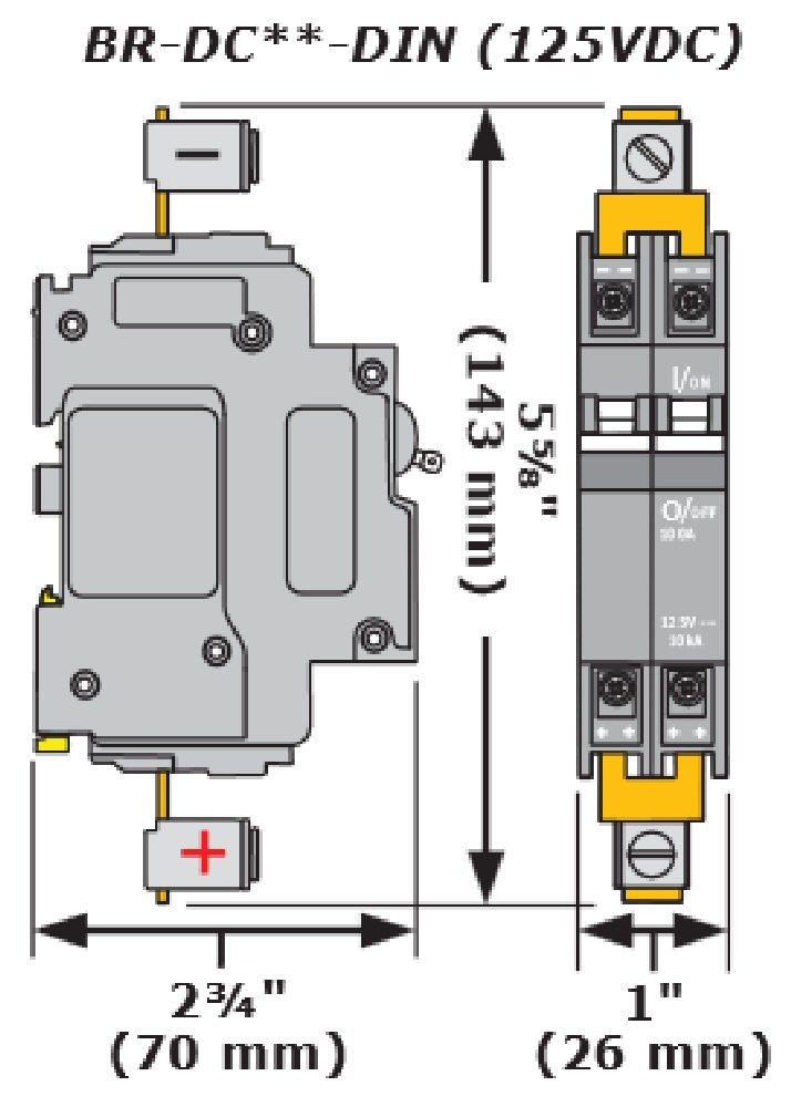 magnum energy br dc100 din 100a din rail circuit breaker from altEstore.com magnum energy br dc100 din 100a din rail circuit breaker alte
